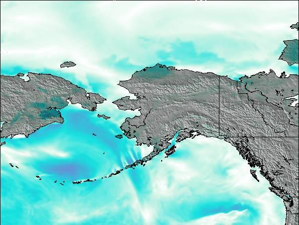 Map Of Alaska And Washington State.Alaska United States Surf Map Wind And Wave Forecasts