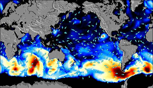 Global Pacific Surf Map Wind And Wave Forecasts