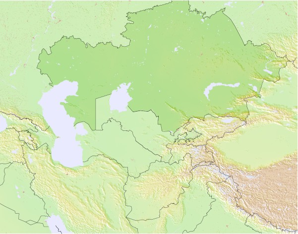 Kazakhstan Surf Map Wind and Wave forecasts