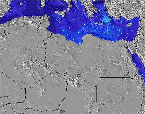 Libya Surf Map – Wind and Wave forecasts