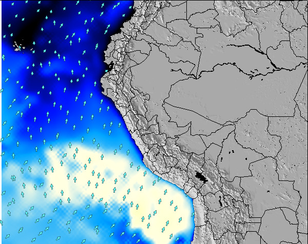 Peru Weather Map.Peru Surf Map Wind And Wave Forecasts