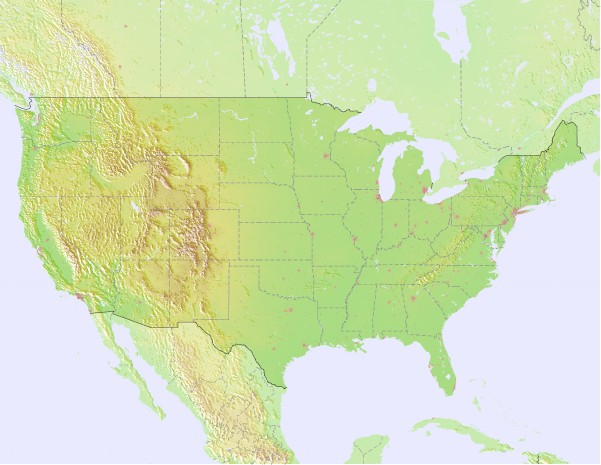 United States Surf Map – Wind and Wave forecasts