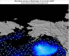 Alaska United States wave energy surf 12 hr forecast