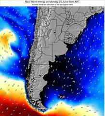 Uruguay wave energy surf 12 hr forecast