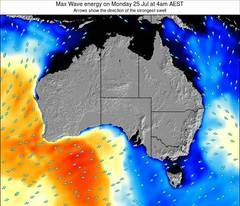 Australia wave energy surf 12 hr forecast