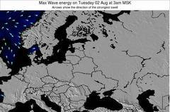 Lithuania wave energy surf 12 hr forecast