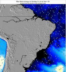 Brazil wave energy surf 12 hr forecast
