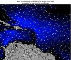 Guadeloupe wave energy surf 12 hr forecast
