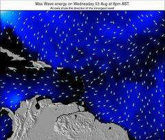 Puerto Rico wave energy surf 12 hr forecast