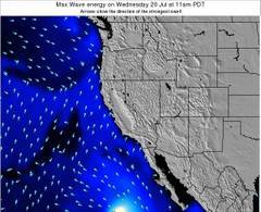 California wave energy surf 12 hr forecast