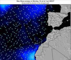 Western Sahara wave energy surf 12 hr forecast