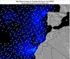Canary Islands, Spain wave energy surf 12 hr forecast