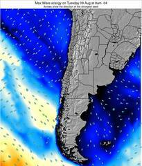 Chile wave energy surf 12 hr forecast