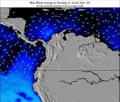 Colombia wave energy surf 12 hr forecast