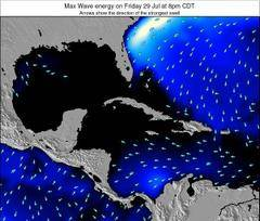 The Bahamas wave energy surf 12 hr forecast