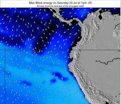 Ecuador wave energy surf 12 hr forecast