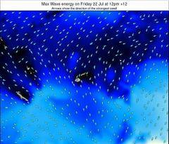 Fiji wave energy surf 12 hr forecast