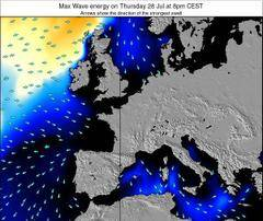 France wave energy surf 12 hr forecast