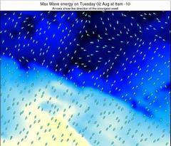 French Polynesia wave energy surf 12 hr forecast