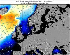Denmark wave energy surf 12 hr forecast