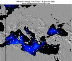 Greece wave energy surf 12 hr forecast