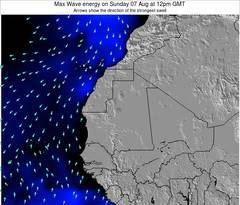 Senegal wave energy surf 12 hr forecast