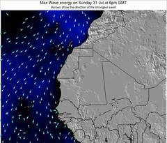 Liberia wave energy surf 12 hr forecast