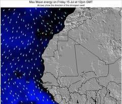 Gambia wave energy surf 12 hr forecast