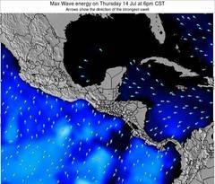 Costa Rica wave energy surf 12 hr forecast