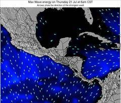 El Salvador wave energy surf 12 hr forecast