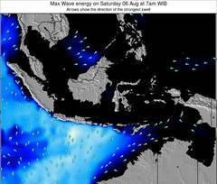 Christmas Island wave energy surf 12 hr forecast