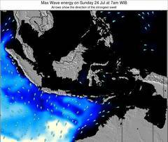 Indonesia wave energy surf 12 hr forecast
