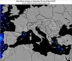 Italy wave energy surf 12 hr forecast