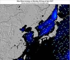 South Korea wave energy surf 12 hr forecast