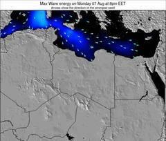 Libya energia delle onde da surf 12 ora previsioni