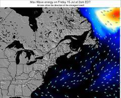 Maine wave energy surf 12 hr forecast