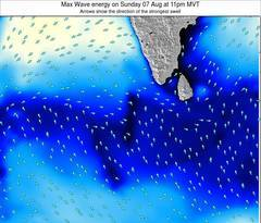 Maldives wave energy surf 12 hr forecast