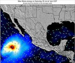 Mexico wave energy surf 12 hr forecast