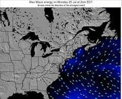 New-Jersey wave energy surf 12 hr forecast