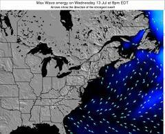 New-York wave energy surf 12 hr forecast