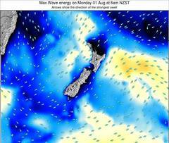New Zealand wave energy surf 12 hr forecast