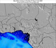 Nigeria wave energy surf 12 hr forecast