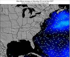 South-Carolina wave energy surf 12 hr forecast