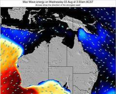 Northern-Territory wave energy surf 12 hr forecast