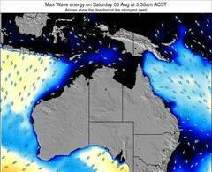 Northern-Territory energia delle onde da surf 12 ora previsioni