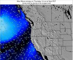 Oregon wave energy surf 12 hr forecast
