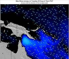 Papua New Guinea wave energy surf 12 hr forecast