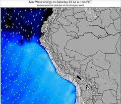 Peru wave energy surf 12 hr forecast