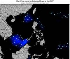 Philippines wave energy surf 12 hr forecast