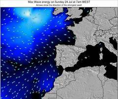 Portugal wave energy surf 12 hr forecast